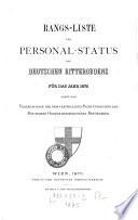 Rangs-Liste und Personal-Status des deutschen Ritterordens für das Jahr ...