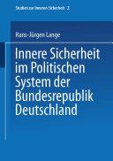 Innere Sicherheit im Politischen System der Bundesrepublik Deutschland