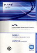 Acca F5 Performance Management Pm