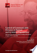 Control Of Communicable Diseases In Human And In Animal Populations 70th Anniversary Year Of The Birth Of Professor Rick Speare 2 August 1947 5 June 2016