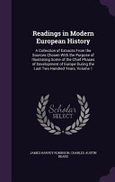 Readings in Modern European History