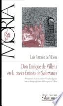 Don Enrique de Villena en la cueva famosa de Salamanca