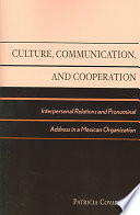 Culture  Communication  and Cooperation