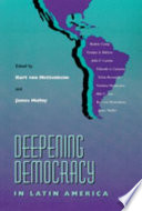 Deepening Democracy in Latin America