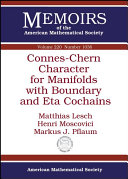 Connes-Chern Character for Manifolds with Boundary and Eta Cochains