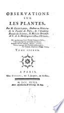 Observations sur les plantes