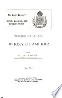 Narrative and Critical History of America  The latter history of British  Spanish  and Portuguese America Book PDF