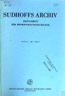Sudhoffs Archiv
