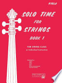 Solo Time for Strings  Book 1
