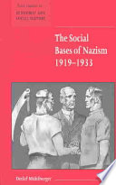 The Social Bases of Nazism  1919 1933