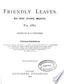 Friendly leaves  ed  by mrs  J  Mercier Book PDF