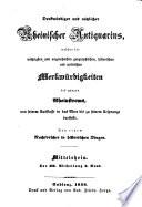 Denkwürdiger und nützlicher rheinischer antiquarius