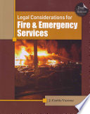 Legal Considerations for Fire and Emergency Services  2nd ed