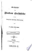 Geschichte des Fleckens Hirschfelde in der königlich sächsischen Oberlausitz