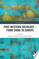 Post Western Sociology   From China to Europe