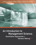 An Introduction to Management Science  Quantitative Approaches to Decision Making
