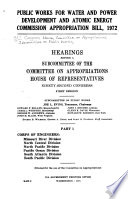 Public Works for Water and Power Development and Atomic Energy Commission Appropriation Bill  1972 Book PDF