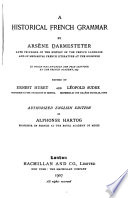 A Historical French Grammar