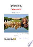 Mémoires de Saint-Simon - Tome 03 - 1704-1707