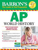 Barron s AP World History with CD ROM  6th Edition