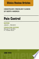 Pain Control An Issue Of Hematology Oncology Clinics Of North America E Book
