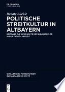 Politische Streitkultur in Altbayern