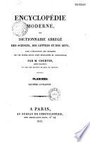 Encyclopédie moderne, ou dictionnaire abrégé des sciences, des lettres et des arts...