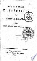 D  J  F  E  Albrechts Briefsteller f  r Kinder und Erwachsene  welcher Briefe schreiben nicht abschreiben lehrt