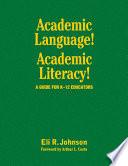Academic Language  Academic Literacy