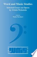 Selected Essays on Opera