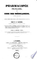 Pharmacopée française, ou Code des médicamens