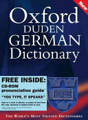 Oxford-Duden German Dictionary: CD-ROM