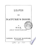 Leaves From Nature S Book By M K M