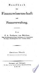 Handbuch der Finanzwissenschaft und Finanzverwaltung