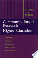 Community Based Research and Higher Education