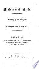 Winckelmann s Werke hrsg  von C  L  Fernow