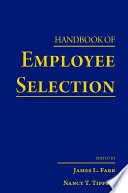 Handbook of Employee Selection