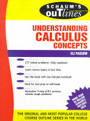 Schaum s Outline of Understanding Calculus Concepts