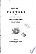 Ritratti poetici con note biografiche di alcuni illustri uomini di Orvieto