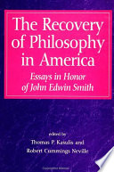 Recovery of Philosophy in America  The