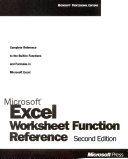Microsoft Excel Worksheet Function Reference