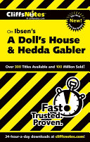 CliffsNotes On Ibsen s A Doll s House and Hedda Gabler
