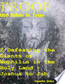 Proof the Bible Is True  2 Defeating the Giants or Nephilim In the Holy Land   Joshua to Job
