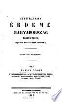 Az egyházi rend érdeme Magyarország történetében