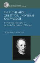 An Alchemical Quest for Universal Knowledge Book PDF