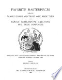 Favorite Masterpieces Book PDF