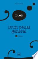 Droit pénal général - 8e édition