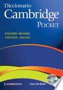 Diccionario Bilingue Cambridge Spanish English With Cd Rom Pocket Edition
