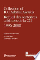 Collection of ICC Arbitral Awards  1996 2000