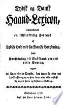 Tydsk og dansk Haand-Lexicon